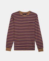 Stussy Classic Stripe Long Sleeve Jersey (Brown   Purple)