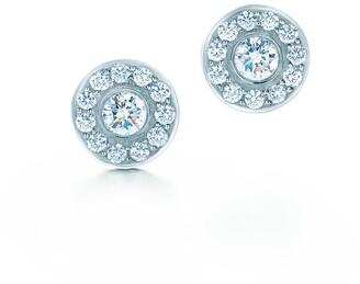 Tiffany & Co. Circlet earrings of diamonds in platinum