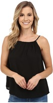 Stetson Solid Crepe Sleeveless Peasant Blouse