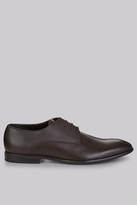 Moss Bros Grayes Brown Textured Shoes