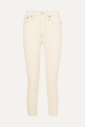 RE/DONE Stretch-cotton Corduroy Skinny Pants - White