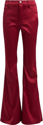 J Brand Valentina Flared Satin Pants