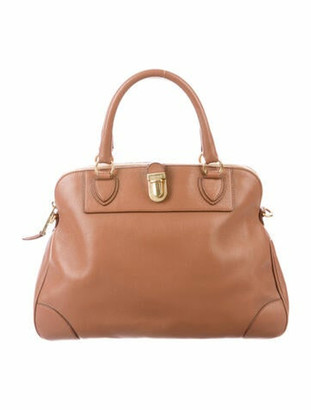 Marc Jacobs Leather Whitney Satchel gold