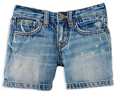 Ralph Lauren Girls' Distressed Denim Shorts - Sizes 2-6X