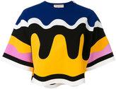 Emilio Pucci wave print T-shirt - women - Nylon/Spandex/Elastane/Viscose - 40