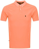 Luke 1977 Basking Polo T Shirt Orange