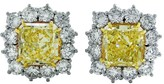 Platinum & 18K Yellow Gold 15.37ct Diamond Earrings