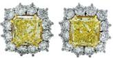 Platinum & 18K Yellow Gold 15.37ct Diamond Earrings