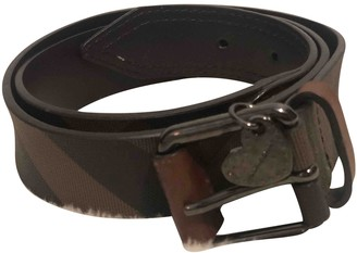 Burberry Anthracite Leather Belts