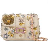 Monique Lhuillier beaded shoulder bag - women - Satin Ribbon/Satin - One Size
