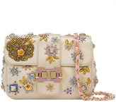Monique Lhuillier beaded shoulder bag - women - Satin/Satin Ribbon - One Size