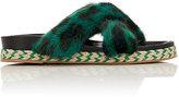 Mr & Mrs Italy Women's Mink Fur Crisscross-Strap Sandals