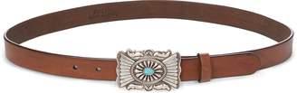 Ralph Lauren Concho-Plaque-Buckle Belt