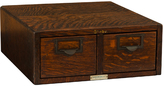 Rejuvenation Oak 2-Drawer Filing Cabinet by Globe c1890