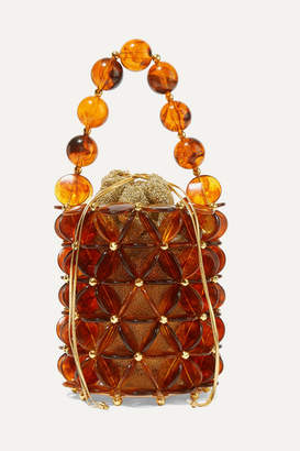 Vanina - Icaria Acrylic And Gold-plated Beaded Tote - Brown