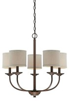 Steuben 5-Light Shaded Classic / Traditional Chandelier Red Barrel Studio