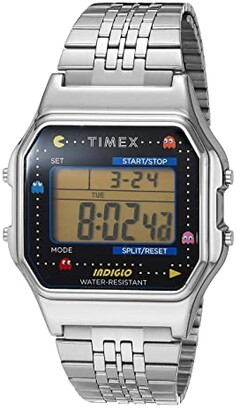 Timex 34 mm T80 PAC-MAN (Silver/Black/Silver) Watches