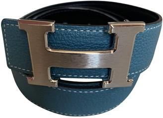 Hermã ̈S HermAs H Blue Leather Belts