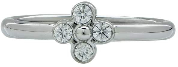Tiffany & Co. Platinum & .05cts Diamond Band Ring Size 5
