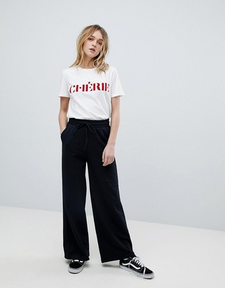 Asos DESIGN basic wide leg sweatpants