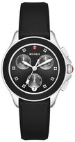 Michele 'Cape' Chronograph Silicone Strap Watch, 34mm