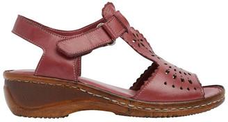 Wide Steps Dario Cherry Glove Wedge Sandal