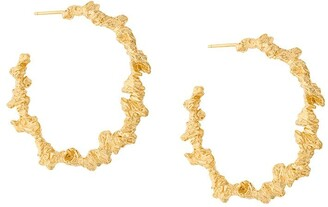 Niza Huang Large Irregular Hoop Earrings