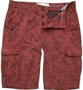 River Island Red Floral Cargo Bermuda Shorts