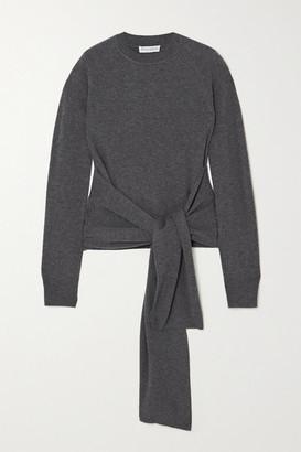 J.W.Anderson Tie-front Merino Wool Sweater - Gray