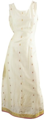 Antik Batik White Cotton Dresses