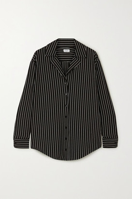 Leset Amber Pinstriped Stretch-jersey Shirt