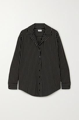 Leset Amber Pinstriped Stretch-jersey Shirt - Black