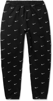 Nike Nrg Tapered Logo-Embroidered Fleece-Back Cotton-Blend Jersey Sweatpants