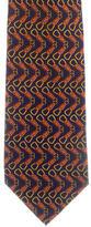 Gucci Keyring Print Silk Tie