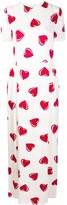 Moschino Pre Owned 2000's heart pattern maxi dress