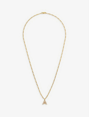 Otiumberg Figaro 14ct yellow gold-plated vermeil sterling-silver and pearl pendant necklace