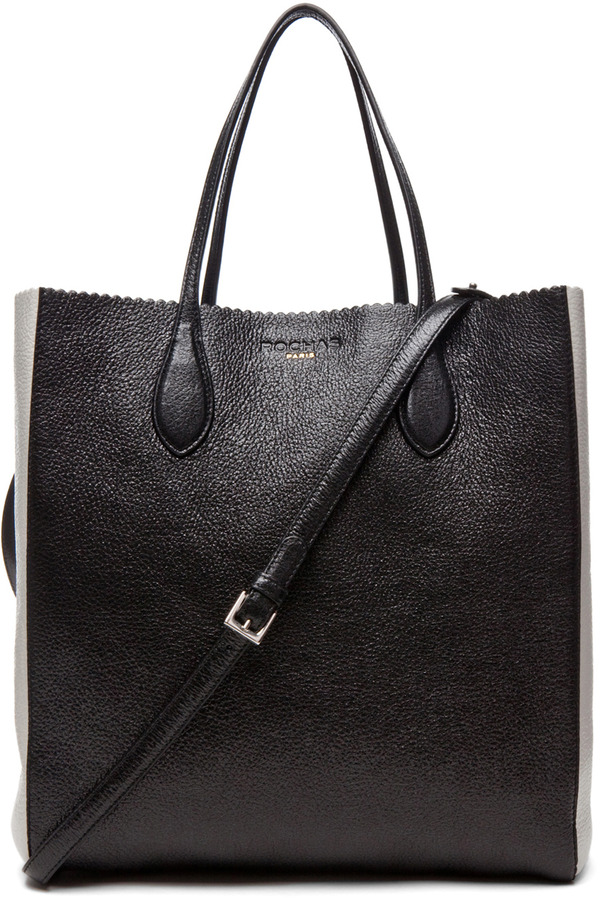 Rochas Borsa Tote in Black & White