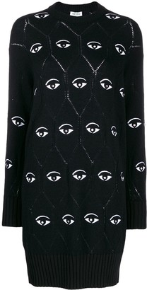 Kenzo Eye logo jumper dress