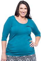 Soybu Plus Size Alyse Melissa Scoopneck Tee