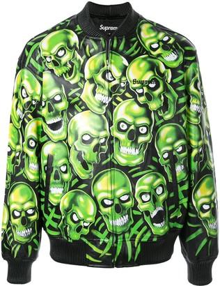 Supreme Skull Print Bomber Jacket
