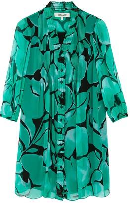 Diane von Furstenberg Layla printed silk-chiffon shirt dress