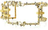 Alexis Bittar Oversized Crystal Link Cuff Bracelet