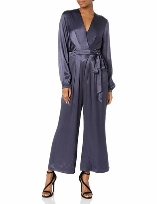 ASTR the Label Women's Malin Long Sleeve Crossover Top Cropped Jumpsuit