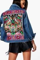boohoo Florence Embellished Denim Festival Jacket