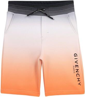 Givenchy Kids' Logo Dip Dye Shorts