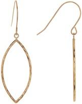 Candela 10K Yellow Gold Diamond-Cut Marquise Dangle Earrings