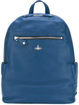 Vivienne Westwood logo pin backpack - men - Leather - One Size