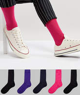 Asos Socks With Pink & Purple 5 Pack