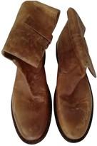 Non Signã© / Unsigned Non SignA / Unsigned Camel Leather Boots
