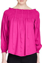 Lauren Ralph Lauren Petite Smocked Off-the-Shoulder Top